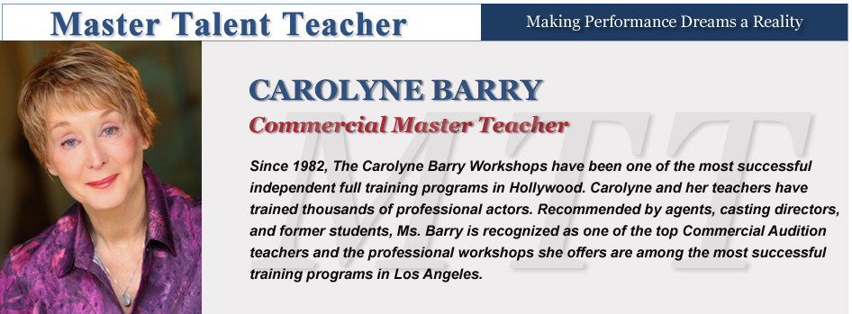 Commercials - Carolyne Barry